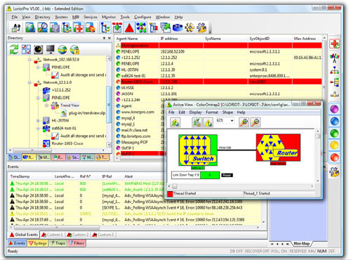 Powerful  graphical Windows-based SNMP manager.