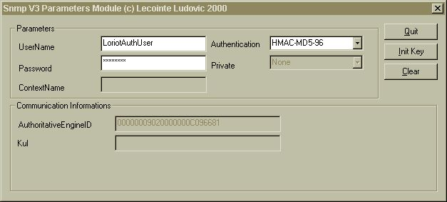 authentication snmp v3