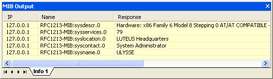 Mib output window for Fenetre windows outils