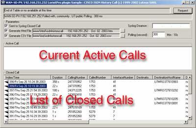Cisco ISDN Call History Collector